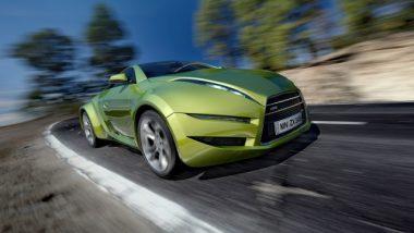 Hybrid Car on the Road